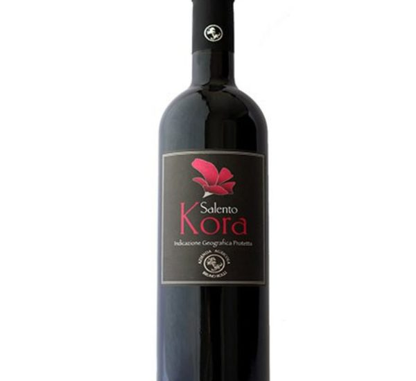 Kora <br>(Rosso Negroamaro – Primitivo)<br> € 15<br>Highly recommended with grilled dark meats and aged cheeses