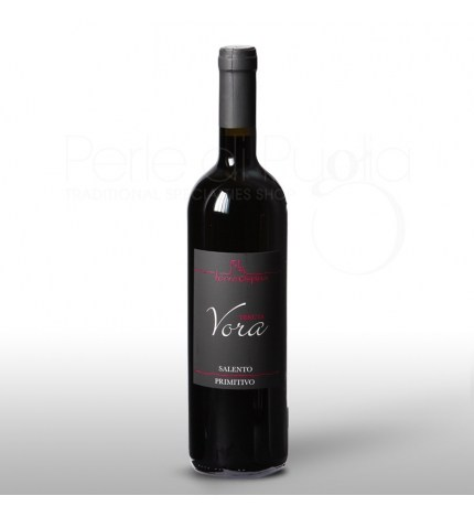 Tenuta Vora<br>(Primitivo Rosso)<br> € 10<br>It matches well with tasty meat sauces; with dark meat; interesting combination with lamb; this wine is great with medium and high aged cheeses