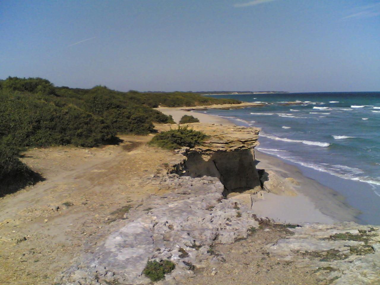 La parte settentrionale della baia dei Turchi