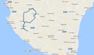 itinerario in bicicletta da Matino