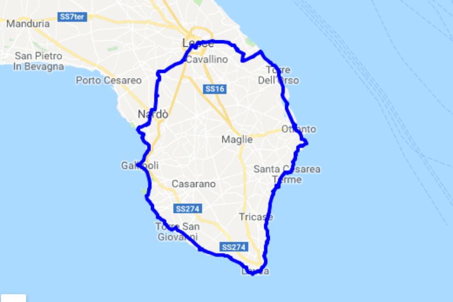 Viaggio in bicicletta in Salento