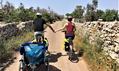 viaggiare in bicicletta con bambini